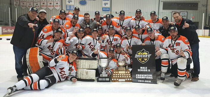 2018 Manitoba Cup champions Ste. Anne Aces