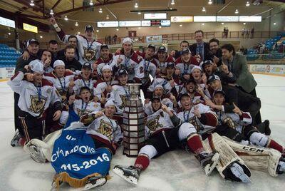 2016 BCHL champs West Kelowna Warriors