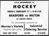 1960-61 OHA Intermediate A Groups