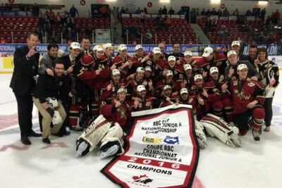 2016 Royal Bank Cup champs West Kelowna Warriors