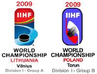 2009 IIHF World Championship Division I Logo