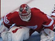 Dominik Hasek stretching