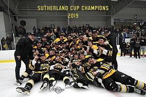 2019 GOJHL champions Waterloo Siskins
