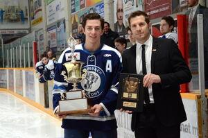 Darby Gula receives Brian Kozak Award