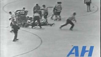 NHL Nov. 30, 1957 Marc Reaume,TOR v Don McKenney,BOS (hit) Toronto Maple Leafs Boston Bruins