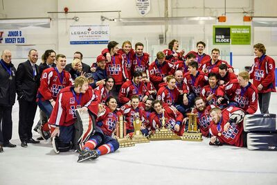 2018 CapJHL champions Wetaskiwin Icemen