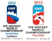 2012 IIHF World Championship Division I Logo