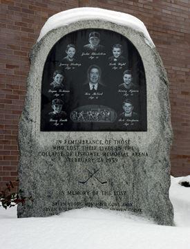 Listowel Memorial Arena plaque