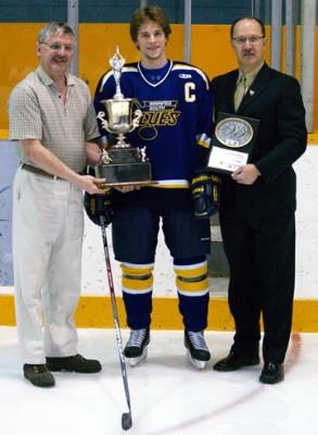 Wade Poplawski with Brian Kozak Memorial Award