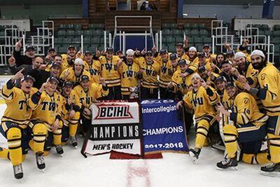 2018 BCIHL champions Trinity Western Spartans