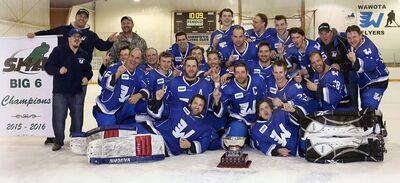 2016 Big Six Hockey League champs Wawota Flyers