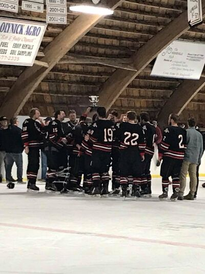 2018 Notekeu Hockey League champions Hodgeville Huskies