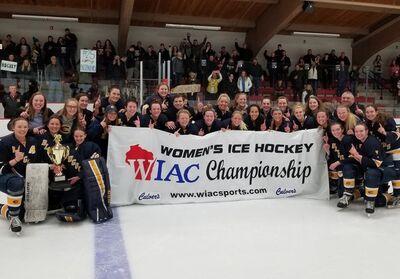 2018 WIAC Women's champions Wisconsin-Eau Claire Blugolds