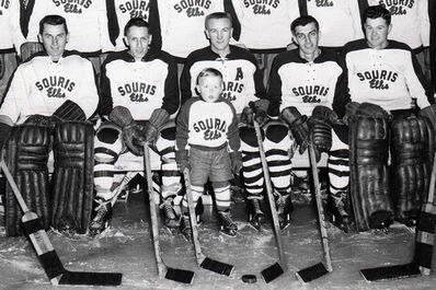 Andy Murray at age five as the Mascot for the Souris Sr. Elks