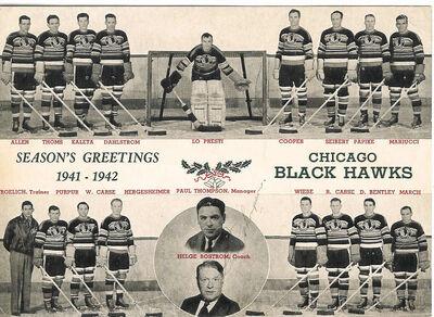 1941 42 chicago blackhawks team