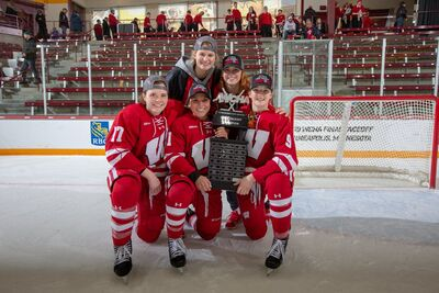 2019 WCHA Women's champions Wisconsin Badgers