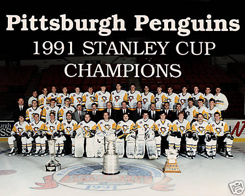 90 91PitPen The 1991 Stanley Cup
