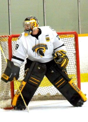 Waterloo Warriors white goalie 2014