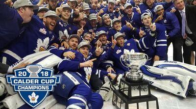2018 AHL Calder Cup Champions Toronto Marlies