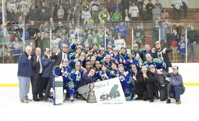 2016 SJHL champs Melfort Mustangs (credit Ryan Booth and Melfort Journal)