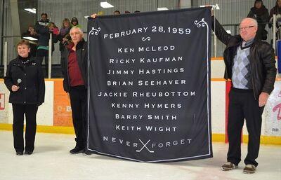 Listowel Memorial Arena tribute banner