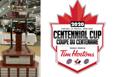 2020 Centennial Cup logo and trophy