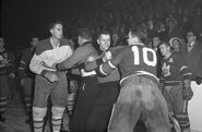 8Dec1955-Beliveau Armstrong fight