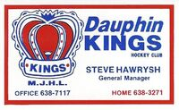 Business Card - Dauphin Kings