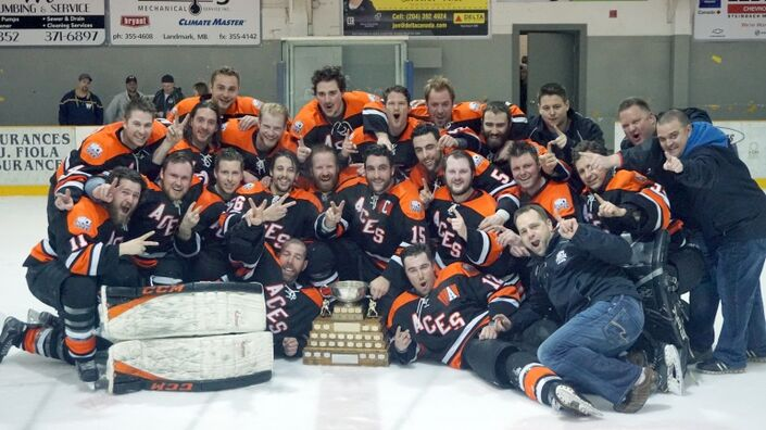 2017 Carillon Senior Hockey League Champions Ste. Anne Aces