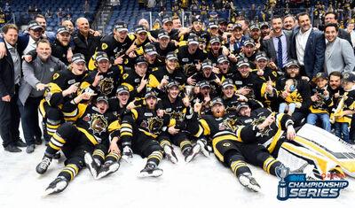 2018 OHL champions Hamilton Bulldogs
