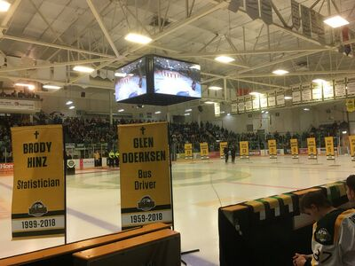 Humboldt Broncos post game retirement ceremony