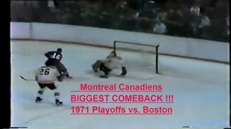 1970-71 NHL Stanley Cup playoffs Montreal Canadiens Boston Bruins Bobby Orr Jean Beliveau Ken Dryden