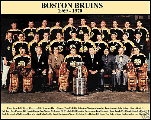 1969-70 Boston Bruins Defense Stanley Cup Champions Engraved Collector Plaque w//8x10 TEAM Photo