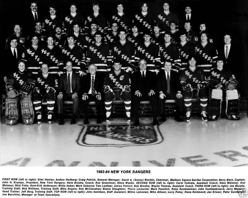 1983–84 New York Rangers season | Ice Hockey Wiki | FANDOM