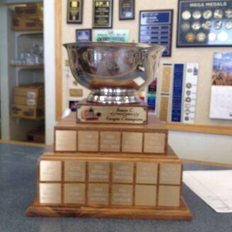 Regina Junior C Hockey League championship trophy