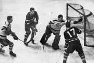 1949-Brimsek Stops Cal Gardner