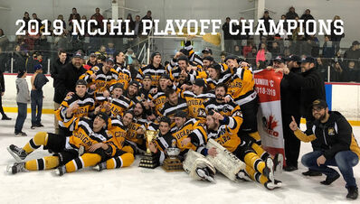 2019 NCJCHL champions Vankleek Hill Cougars