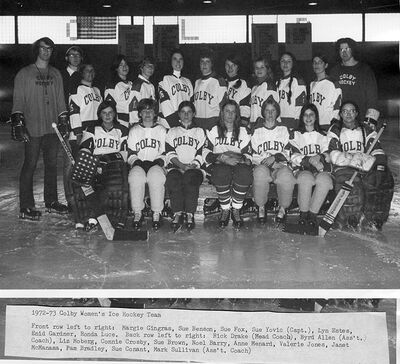1972-73 Colby Mules Women's team