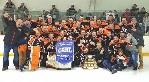 2018 Carillon Senior Hockey League Champions Ste. Anne Aces