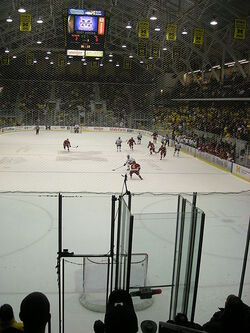Michigan attempts an empty net goal