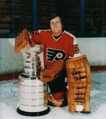 Wayne Stephenson with Stanley Cup