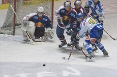 Ice Hockey goalkeeper Irbe of EC Red Bull Salzburg