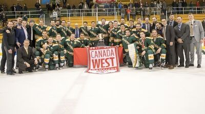 2018 CWUAA men's champions Alberta Golden Bears