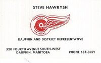 Business Card - Detroit Red Wings