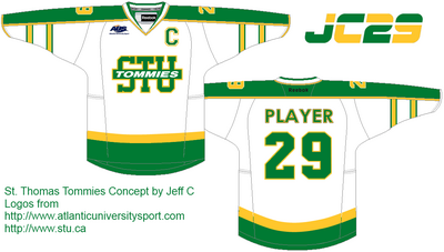 Stu white jersey -StThomasTommies