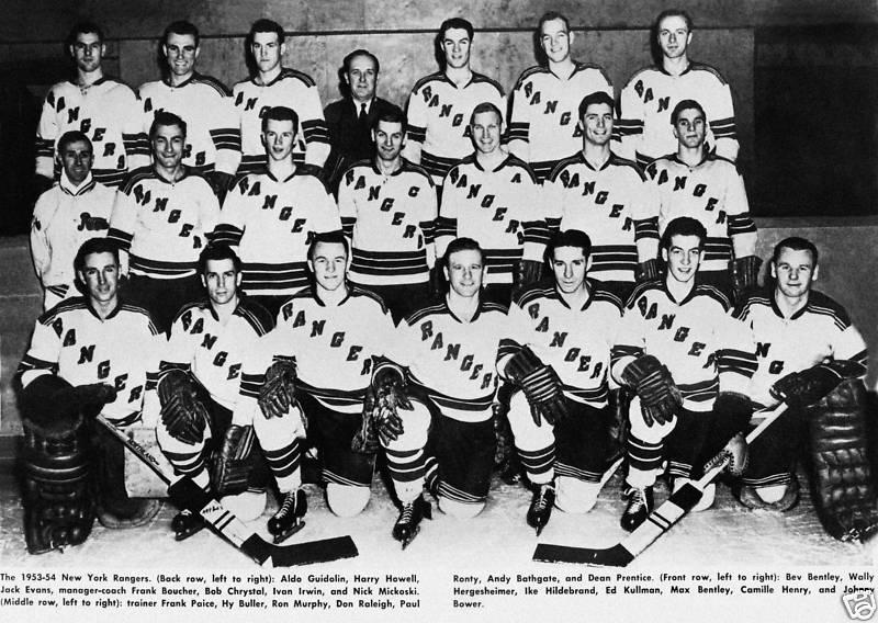 1953 54 New York Rangers Season Ice Hockey Wiki Fandom Powered