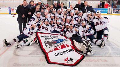 2018 World Junior A Challenge champions USA