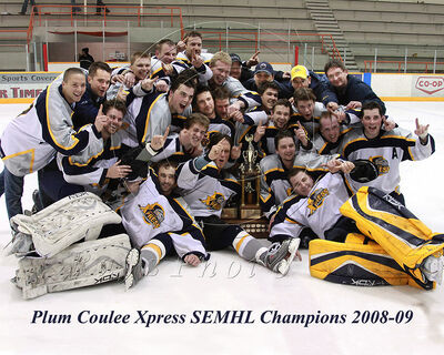 2009 SEMHL champs Plum Coulee Xpress