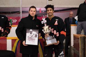 Drake Burgin receives Brian Kozak Award