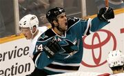 Johnathan Cheechoo celebration 2008